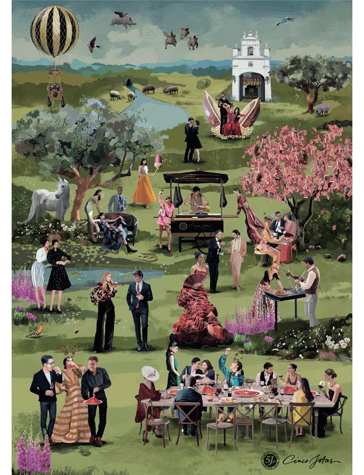 The Garden of Eden by Cinco Jotas reproduction