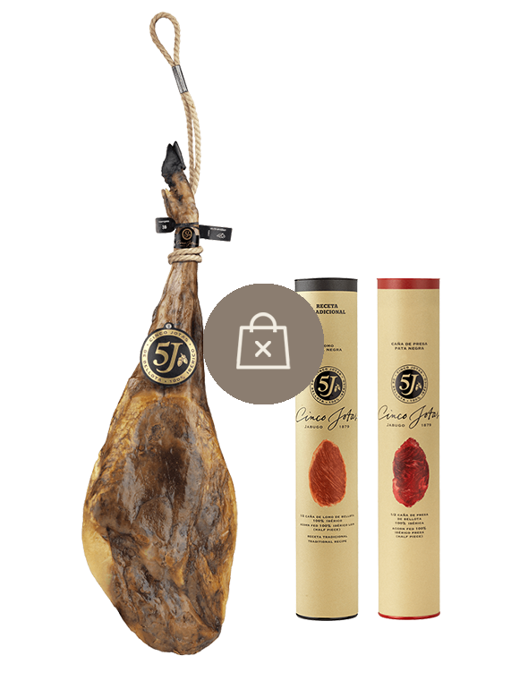 Selection of 100% ibérico ham with 2 half portions of cured meat