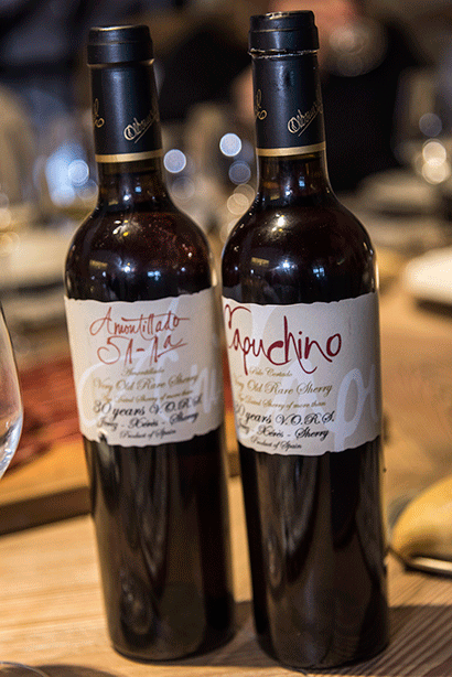 Paired Cinco Jotas with Xérès sherry wines Jerez Palo Cortado. By Nick Charlesworth